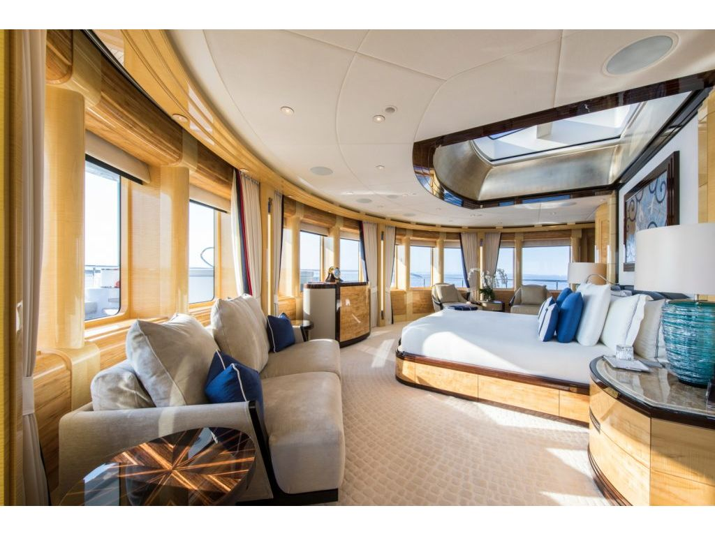 Master Stateroom with 180 degree views!